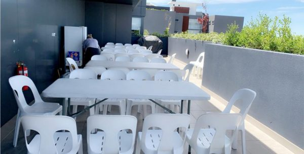 White Plastic Stackable Chair Hire