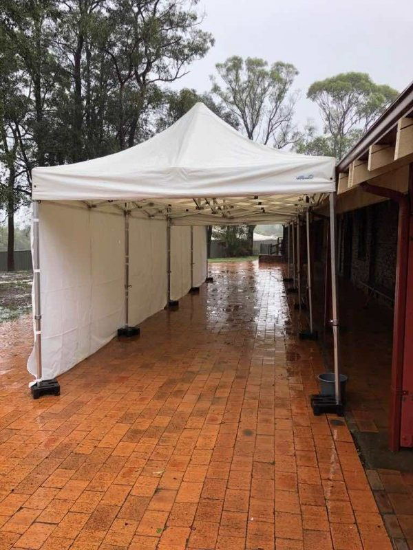 3x6m Pop Up Marquee With White Roof And 3 Sides