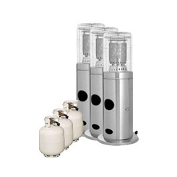 Package 3 – 3 x Area heater with gas bottles included