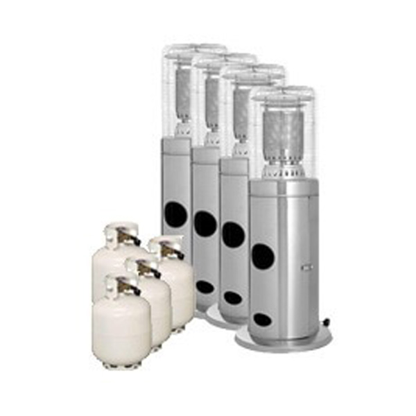 Package 4 – 4 x Area heater with gas bottles included