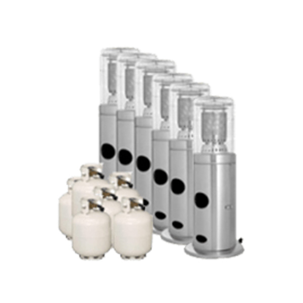 Package 6 – 6 x Area heater with gas bottle included