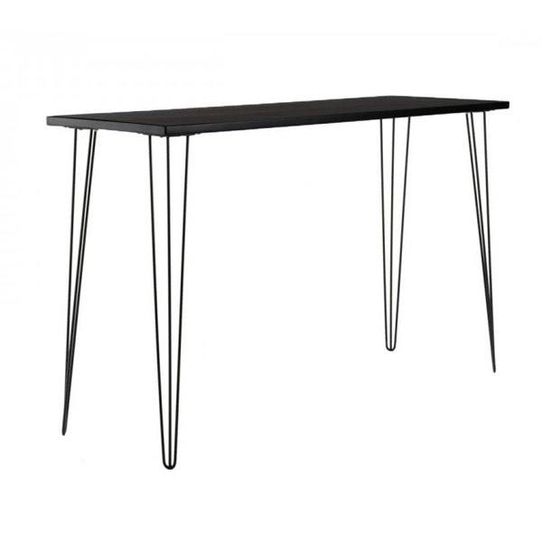 Black Hairpin Tapas Table with black top