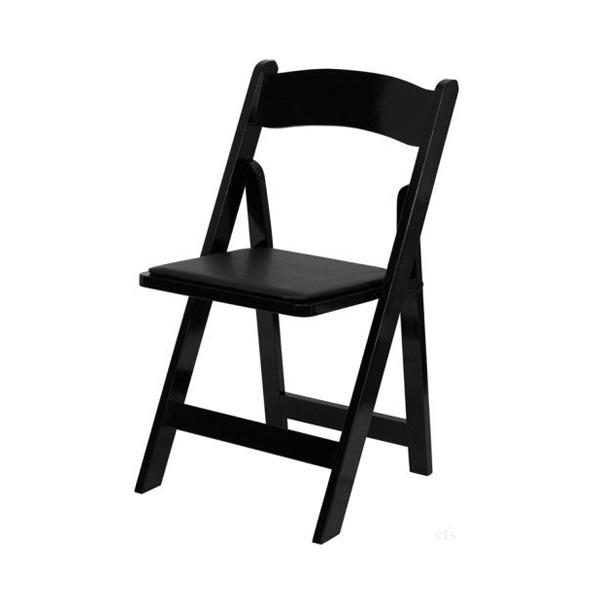 black padding wedding chair hire