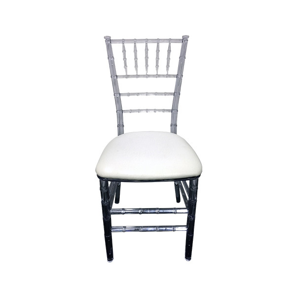 clear tiffany chair hire