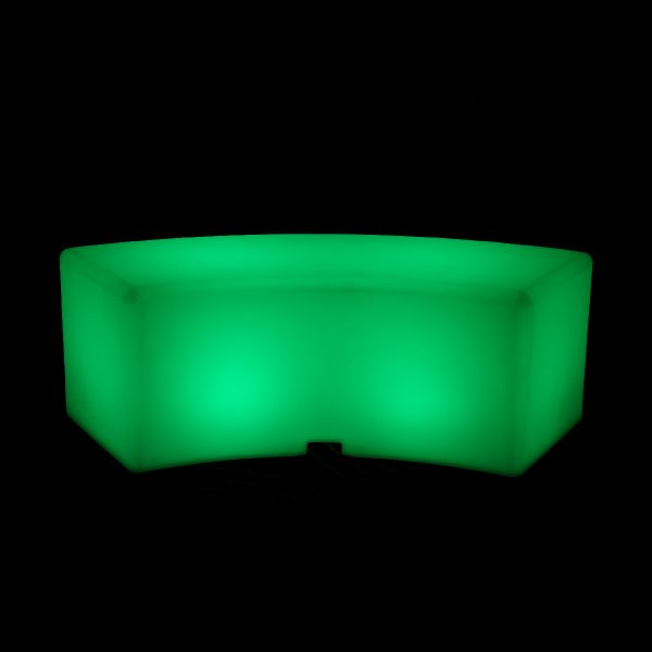 curved glow bench