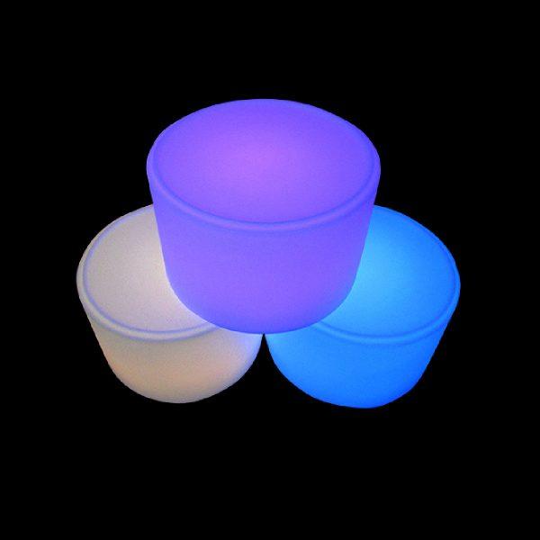 glow round ottoman