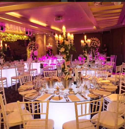 Round Glow Banquet Table