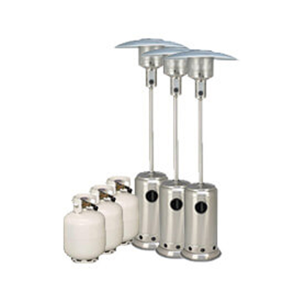 Package 3 – 3 x Mushroom heater with gas bottles included