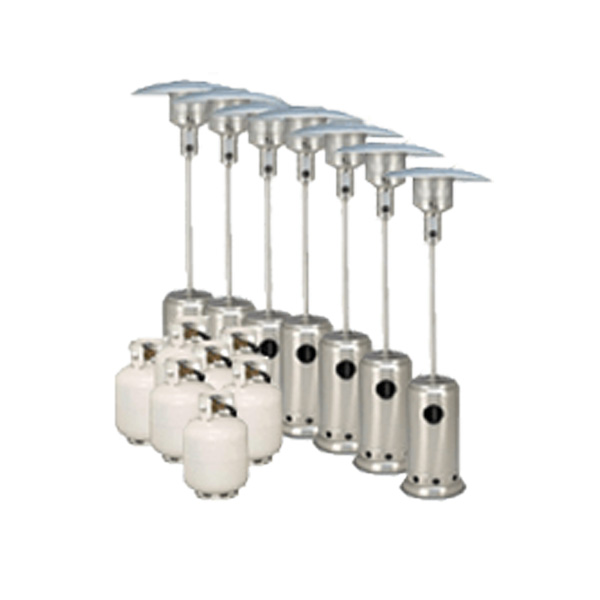 Package 7 – 7 x Mushroom Heater with gas bottles included