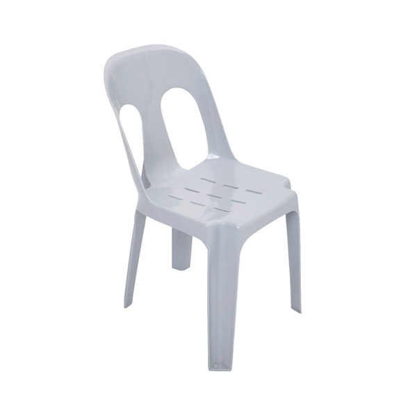 plastic white stackable chairs for hire