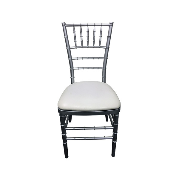 silver tiffany chair for hire