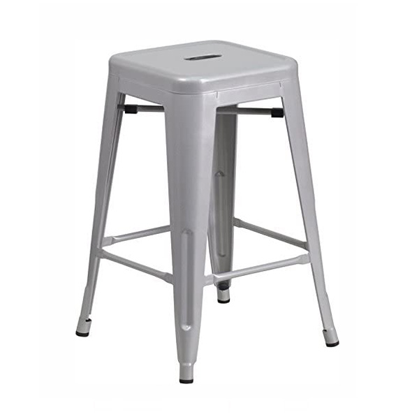 Silver Tolix Stool