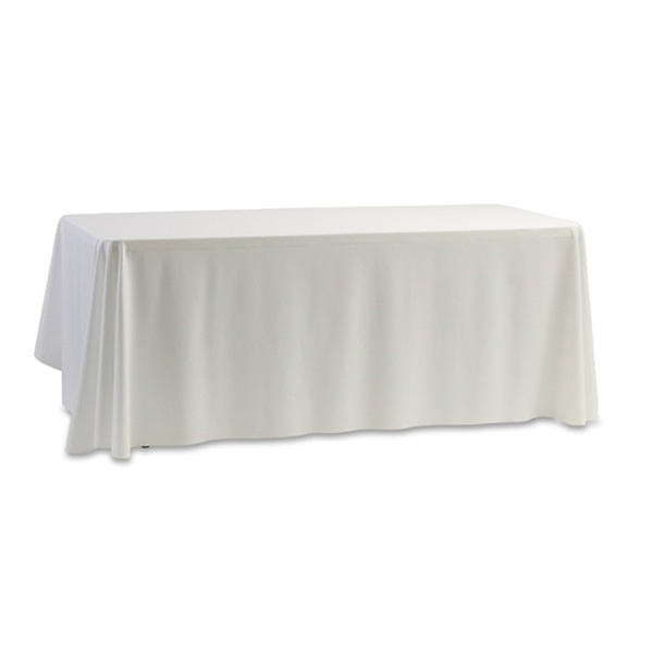 White tablecloth for standard trestle table