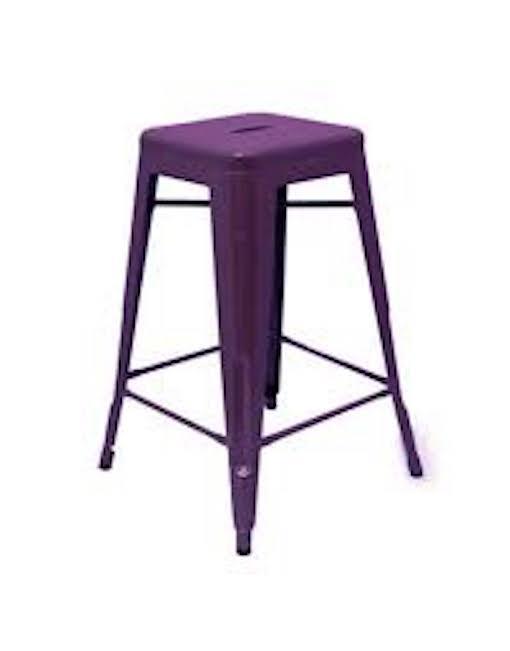 Purple Tolix stool hire