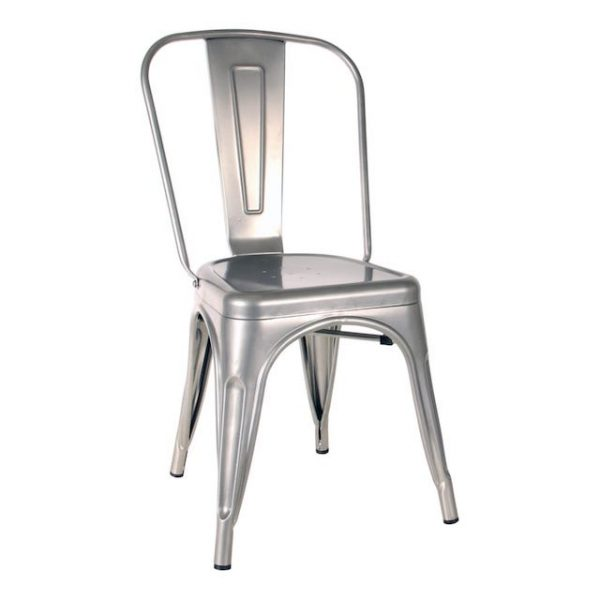 Silver Tolix Chair