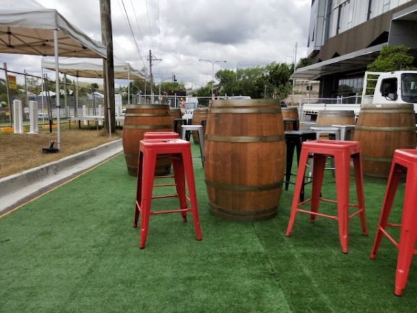 Red Tolix stool hire