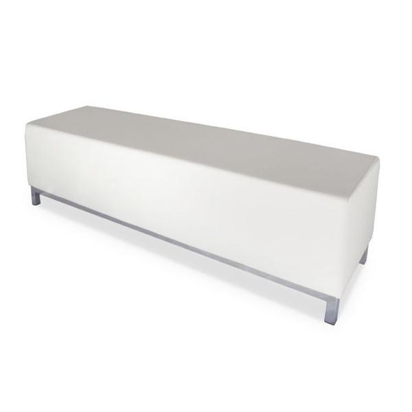 white ottoman bench
