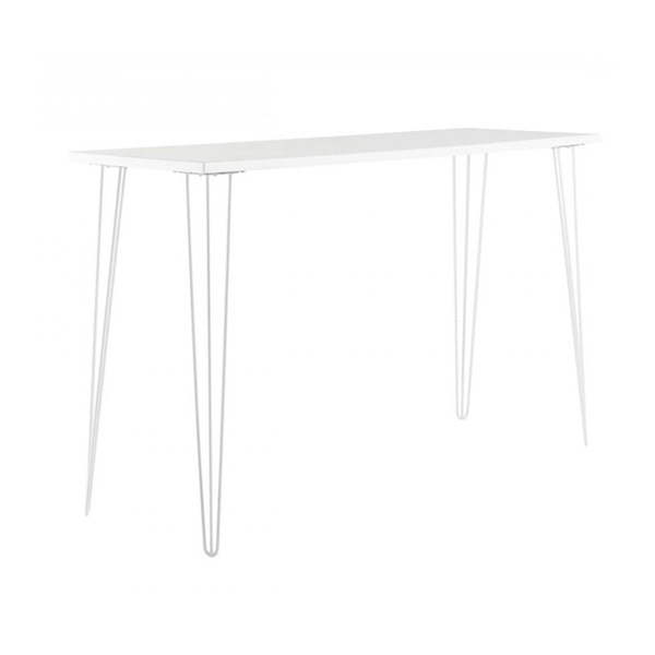 White Hairpin High Bar Table With White Top