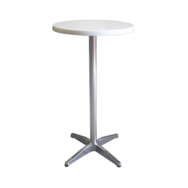 White Top Bar Table