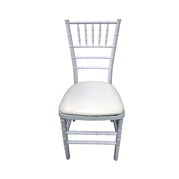 white tiffany chair for hire