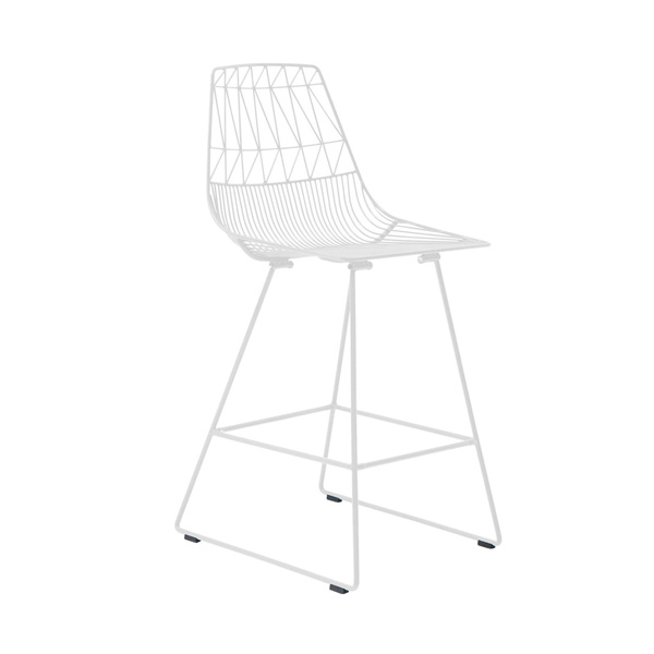White Wire Stool / White Arrow Stool Hire