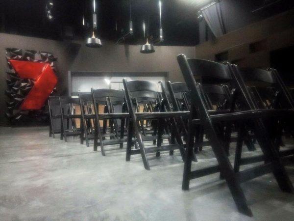 Black Padded Folding Chair Hire