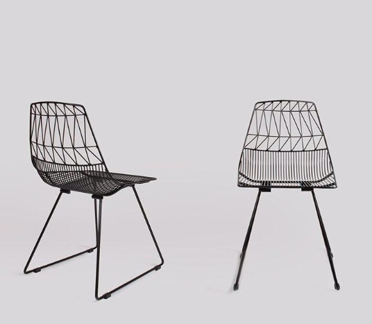 Black Wire Chair And Black Arrow Chair Hire