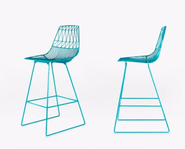 Turquoise Wire Stool / Turquoise Arrow Stool Hire