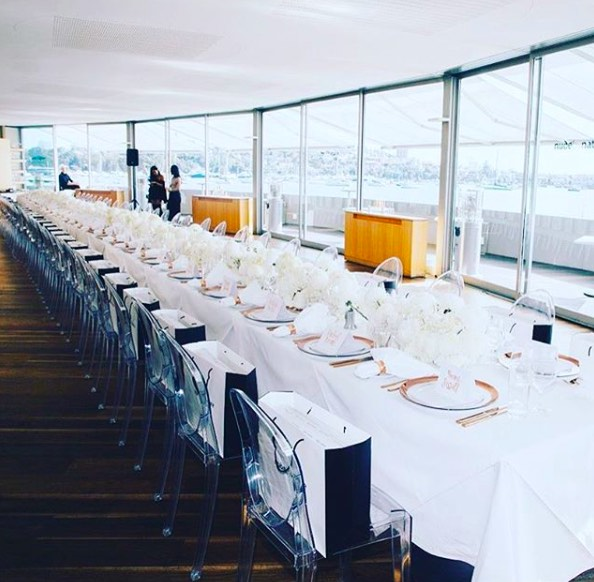 White tablecloth for large trestle table